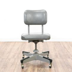 Chair Revolving Steel Base With Wheels Paris Cafe Chairs This Retro Industrial Office Is Featured In A
