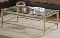 modern coffee table with brass legs | Clear Glass Top ...