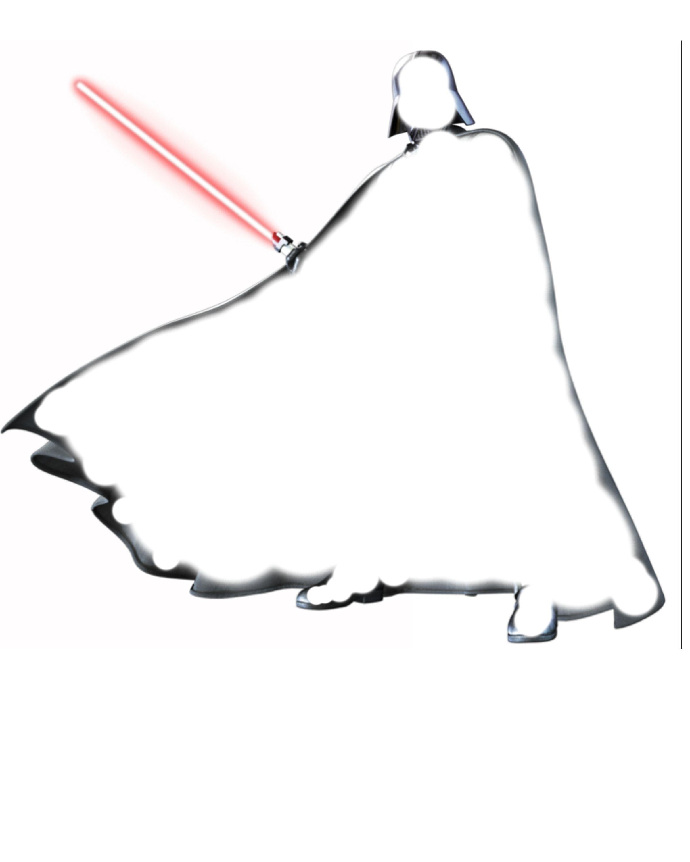 Darth Vader Outline Image Pixels