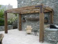 Rustic Timber Pergola - love the simple look but with less ...