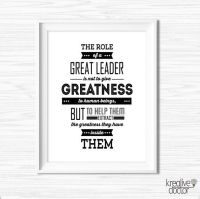Leadership Quotes For Office Wall Art by KreativeDoctor on ...