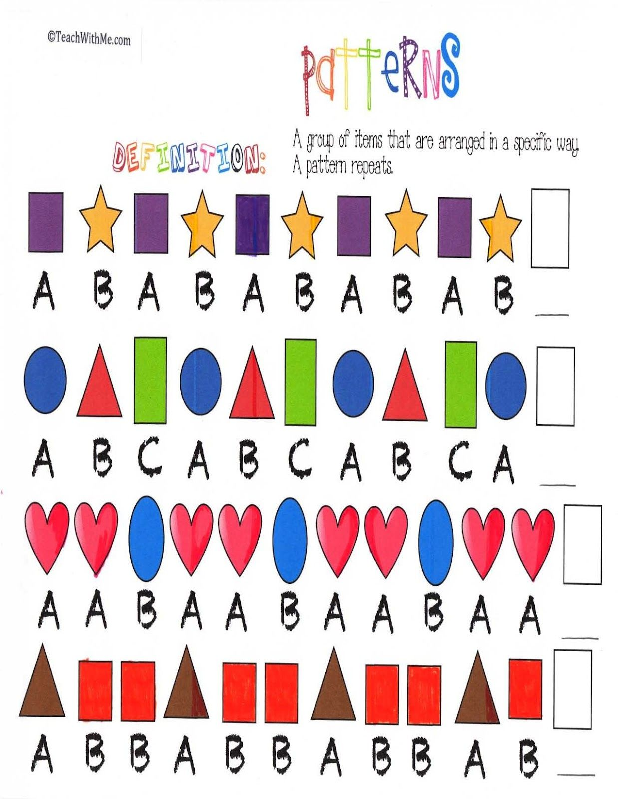 Pattern Anchor Chart Posters