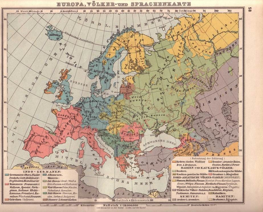 Mid 19 Century Europe Map