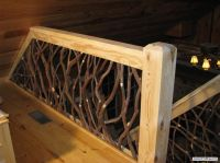 Rustic Wood Railings | Stair Railing and Balcony Handrail ...