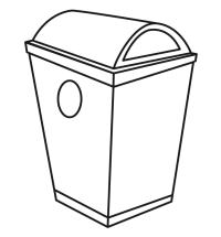 Botes de basura para colorear