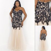 Plus Size Prom Dresses 2015 Patterns Champagne And Black ...