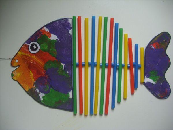 Bricolage Avec Des Pailles - Recherche Google Craft Fish And Summer Crafts