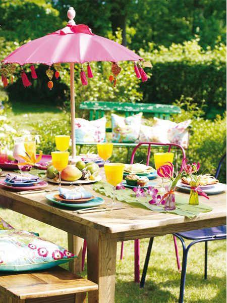 Déco évènement Déco De Table Garden Party Jardins Été Et Parapluies