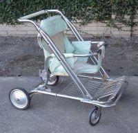 Vintage Baby Stroller 1950s 60s Mid Century Modern Teal ...