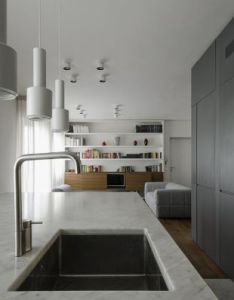 Modern pisa apartment also renovated in gets  contemporary simplified look rh pinterest