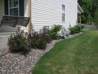 Here is an example of our Black Cherry Gravel in a garden ...