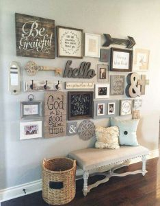 Diy farmhouse style decor ideas entryway gallery wall rustic for furniture paint colors farm house decoration living room kitchen and bed also pin by sierra mireles garza on home pinterest sitting rh
