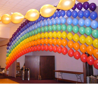 Rainbow Balloon Wall - Might take a lot of time but I ...