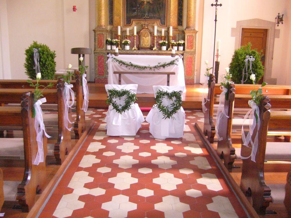 Kirchendeko hochzeit  Hochzeit Laura  Cornelius