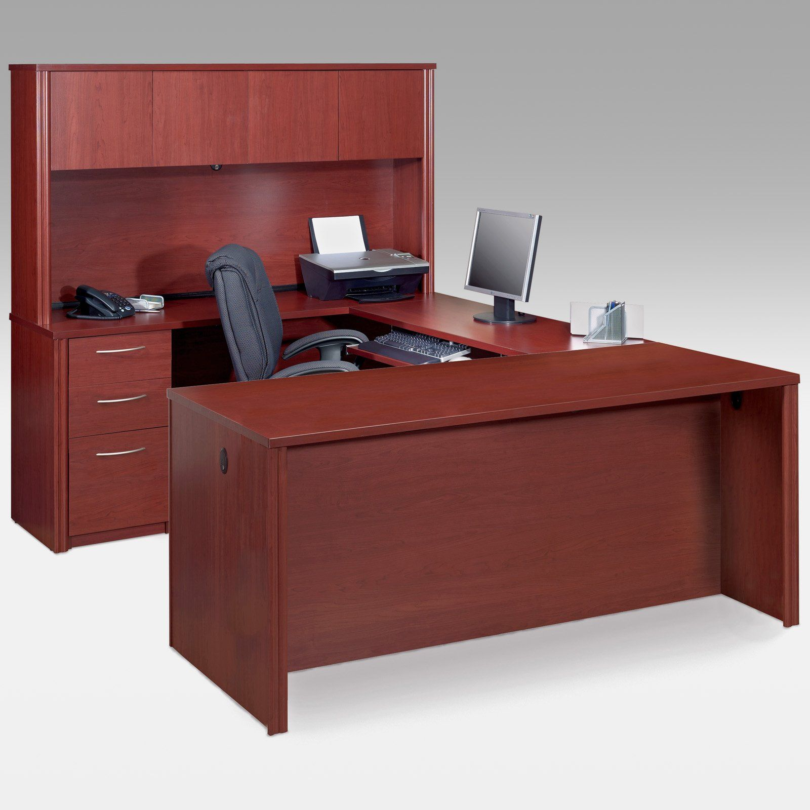 u shaped office desks old 111  Home Office Design  My