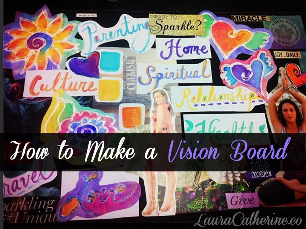 How To Make A Vision Board Video Post