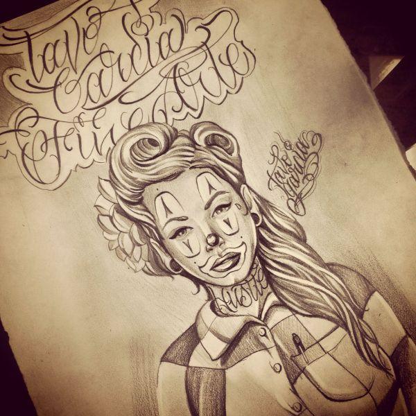 Chola Clown Drawing Couple Days Love Doin Art