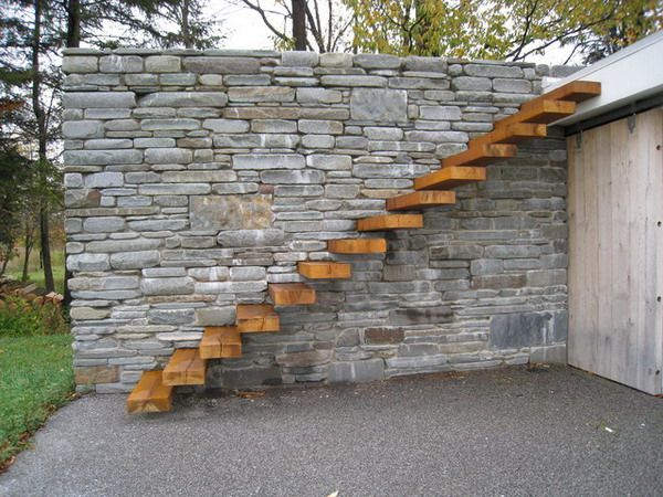 Floating Wooden Outdoor Patio Stairs Patio Design Ideas