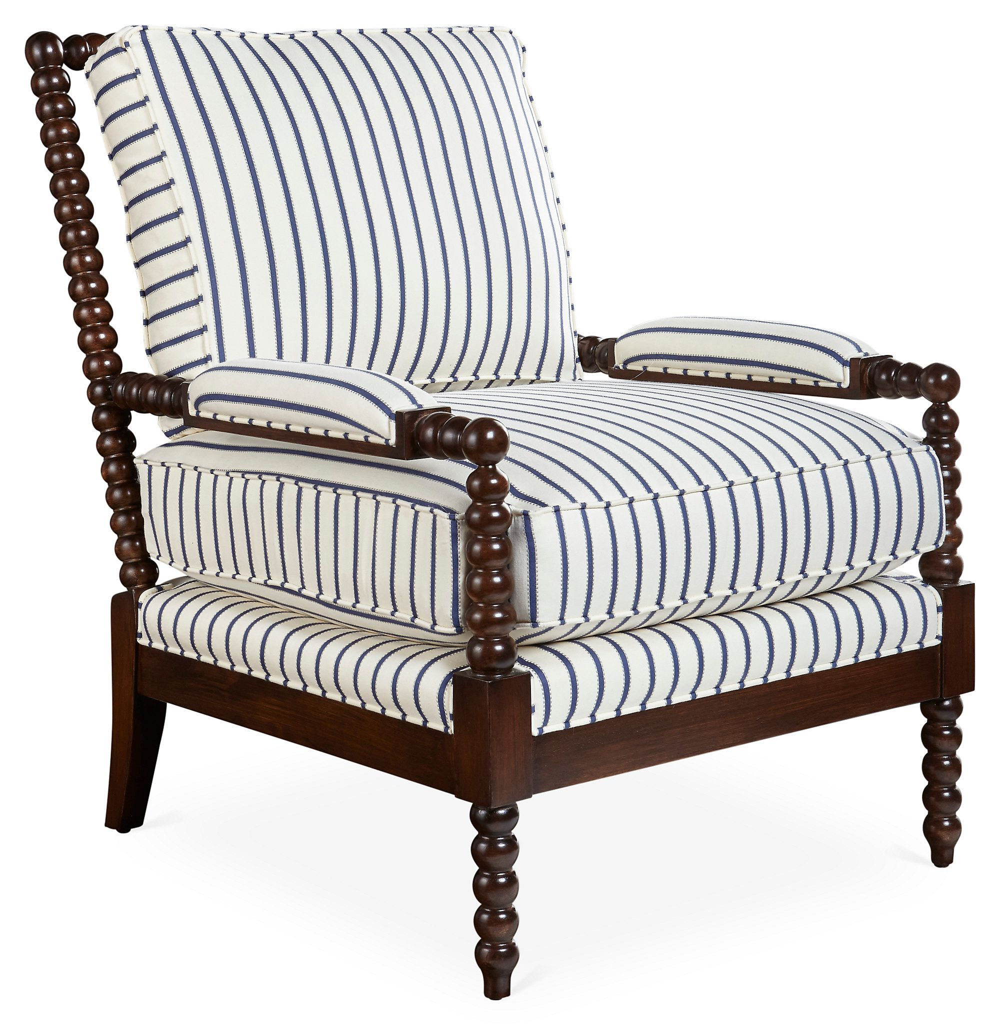 navy and white chair gold crushed velvet covers bankwood spindle stripe one kings lane