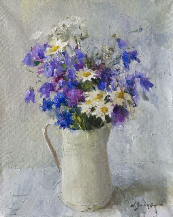 Beautiful Flower Oil Painting
