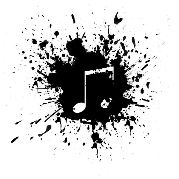 Download Free Music Note Black Paint Splatter Icon ~ Icons