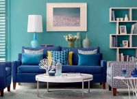 Lagoon Blue Living Room with Lime Green Accents | color ...