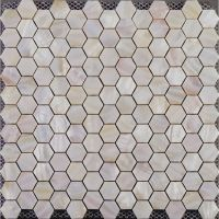 Hexagon mosaic mother of pearl tiles backsplash cheap ...
