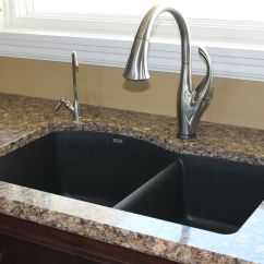 Kitchen Sink Waste Disposal Lighting Idea Love The Blanco Silgranit Sinks Pair It With A