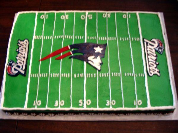 New England Patriots Football Field Birthday Cakes