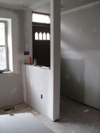 half wall with column | Half walls, Entryway and Columns