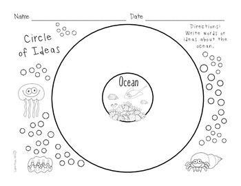 Ocean Habitat Research Activities and Graphic Organizers