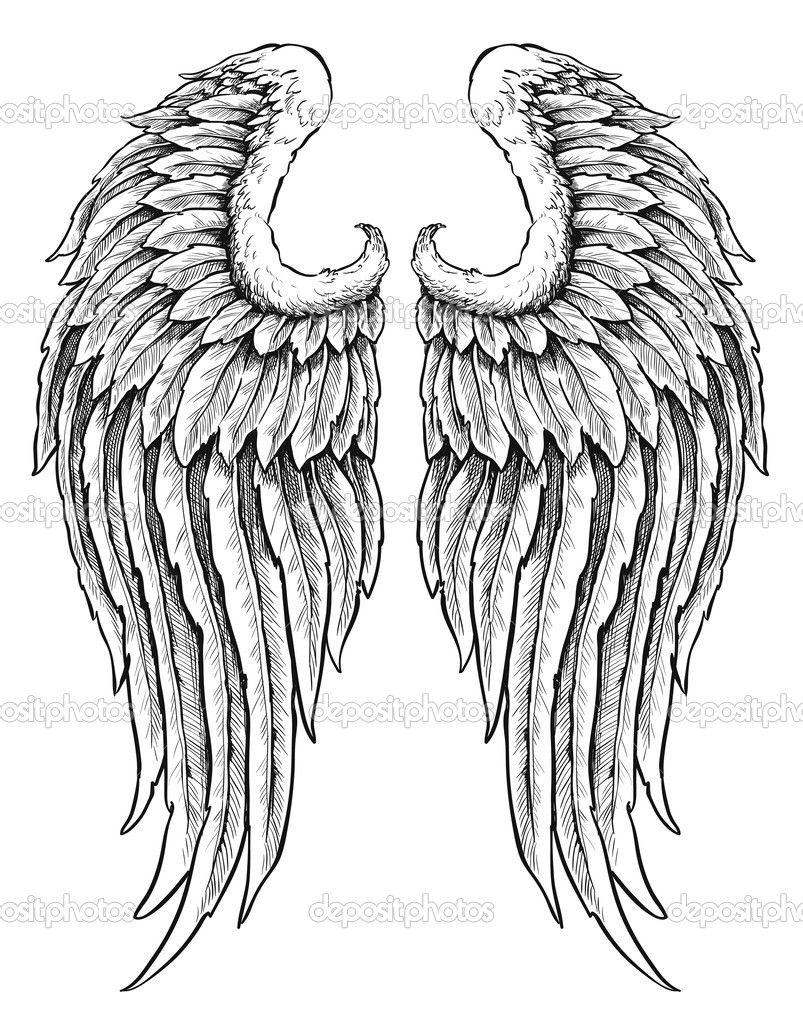 Resultado De Imagen Para Alas De Angel Dibujo A Lapiz