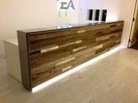 Reclaimed wood | reception desk | estudio | Pinterest ...