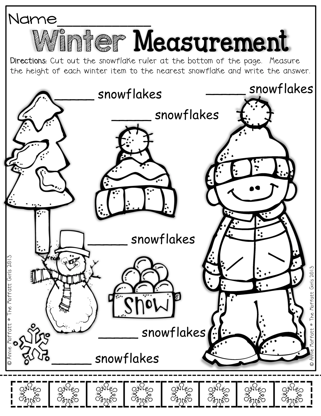 Winter Math And Literacy Packet No Prep Kindergarten
