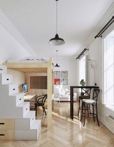 small apartment with modern minimalist interior design also rh nz pinterest
