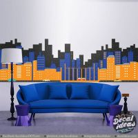 Superhero Wall Decal Gotham City Wall Decal by ...