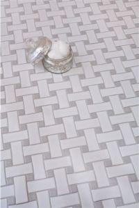 Mission Stone Tile | Basket Weave- Ceramic Glossy White ...