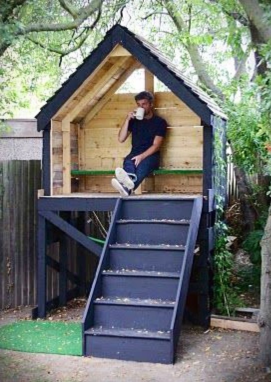Easy Treeless Tree House For The Home Pinterest Tree Houses