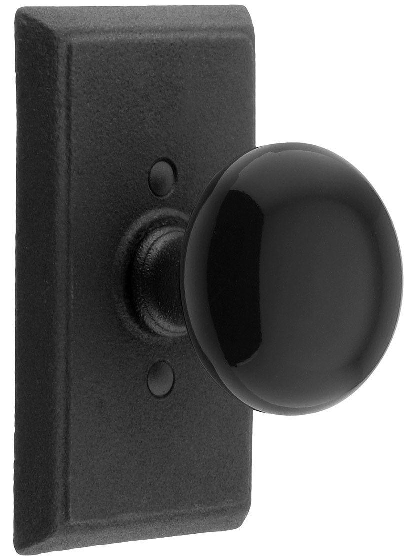 $94 Door Knob Parts. Wrought Steel Providence Door Set