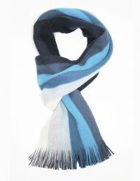 men scarfs | Home / Mens Scarves /Monti Blue Striped ...