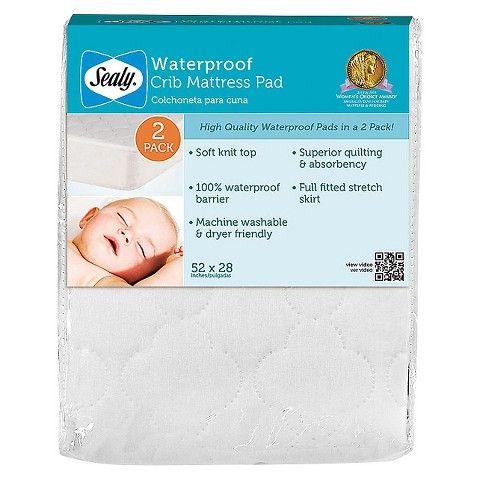Babies 30 For 2 52x28 Target Sealy Waterproof Crib Mattress Pad Pack