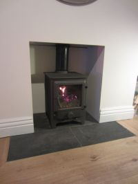 flush slate fireplace hearth | Bellport Decorating ideas ...