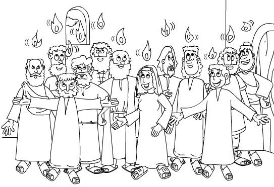 Pentecost day coloring pages|Days of pentecost coloring
