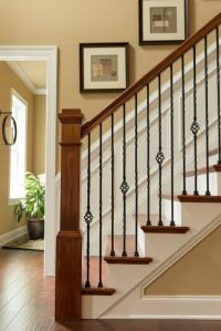 Craftsman Staircase with High ceiling, Wainscotting, Chair ...