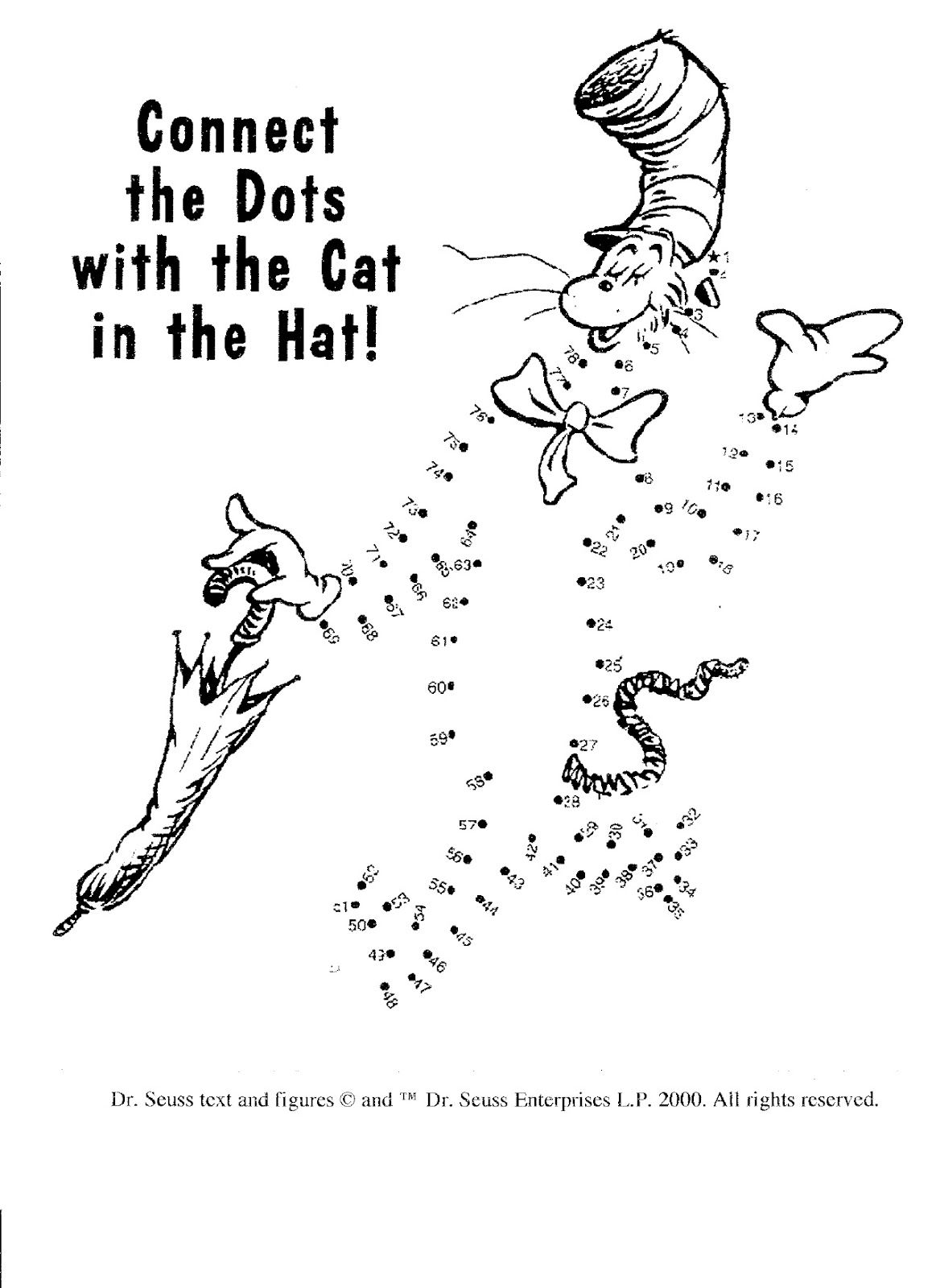 Dr Seuss Dot To Dot