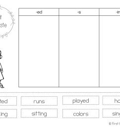Verbs Cut And Paste Worksheet   Printable Worksheets and Activities for  Teachers [ 1265 x 1687 Pixel ]