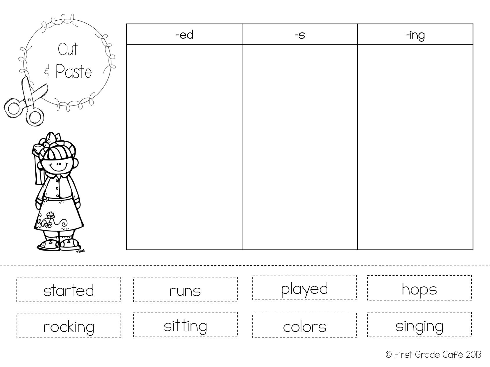 hight resolution of Verbs Cut And Paste Worksheet   Printable Worksheets and Activities for  Teachers