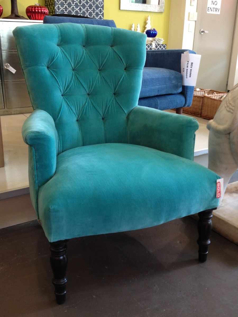 Turquoise velvet armchair  Colors  Pinterest  Armchairs