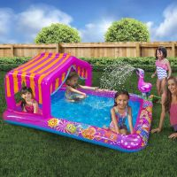 """Inflatable Water Play Center Kids Swimming Pool 74""""L ..."""