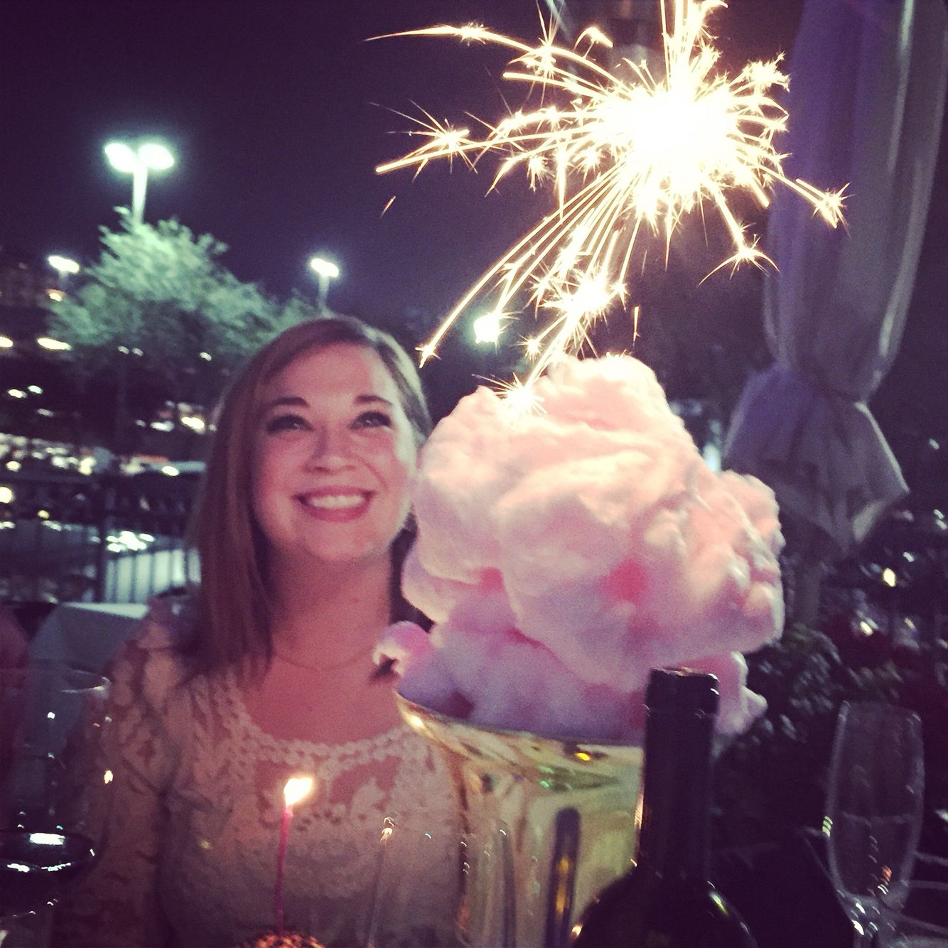 Cotton Candy Birthday Cake At Ibiza Restaurant In